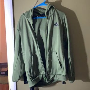 Adidas heavy hoodie sweatshirt men's medium green